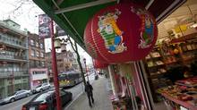 Some traditional stores and businesses in Chinatown on East Pender Street in Vancouver on Jan. 09, 2013. (Deborah Baic/The Globe and Mail)