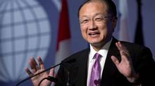 Jim Yong Kim, president of the World Bank, gives a luncheon speech to the Conference of Montreal on July 11, 2013. Dr. Kim (Ryan Remiorz/The Canadian Press)