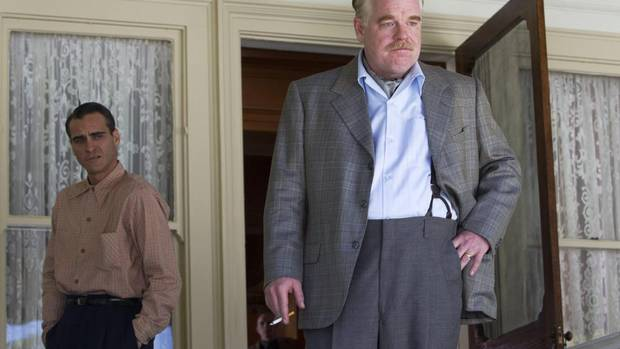 "SNUB: The vast majority of critics praised ""The Master"" as one of the best films of the year, and Joaquin Phoenix (left, best actor) and Philip Seymour Hoffman (right, best supporting actor) both earned nominations for their work, but it failed to make the Best Picture list. (AP)"