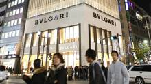 Italian jeweller Bulgari's outlet in Tokyo's Ginza shopping district. (ISSEI KATO/Issei Kato/Reuters)