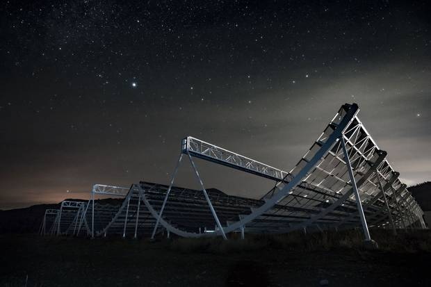 The CHIME array, roughly the size of six NHL hockey rinks, will be looking for signs of 'dark energy,' a kind of energy present in the vacuum of space that is thought to accelerate the universe's expansion.