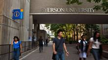 Ryerson University in Toronto receives about 70,000 applications for 6,500 first-year spaces, said president Sheldon Levy. He would love to accept more domestic and international students, but 'the reality is that we have limited capacity.' (JENNIFER ROBERTS FOR THE GLOBE AND MAIL)