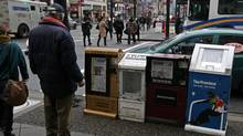 CanWest-owned newspaper boxes in Vancouver (DARRYL DYCK/Darryl Dyck/The Canadian Press)