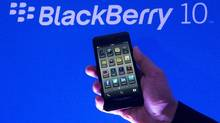 A BlackBerry 10 smartphone device. (Nathan Denette/The Canadian Press)
