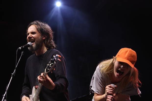 Drew and Emily Haines of Metric perform with Broken Social Scene.