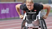 Diane Roy during a training session at Newham Sports Complex before the London 2012 Paralympic Games. (Matthew Murnaghan/Canadian Paralympic Committee)