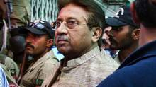 In this April 20, 2013, file photo, Pakistan's former President and military ruler Pervez Musharraf arrives at an anti-terrorism court in Islamabad, Pakistan. (Anjum Naveed/AP)