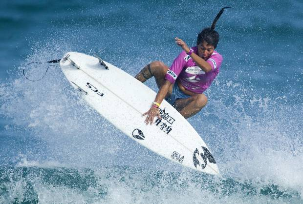 Silvana Lima competes in the semifinal round of the Billabong Rio Pro Women's surfing competition in Rio de Janeiro, Brazil, Sunday May 15, 2011. Lima lost to U.S. surfer Carissa Moore.