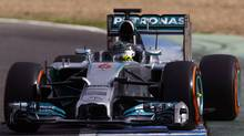 Nico Rosberg drives during 2014 F1 Pre Season in Jerez, Spain in January 2014. (Mercedes-Benz)