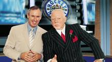 Ron MacLean and Don Cherry son the set of Coach's Corner, on CBC's Hockey Night In Canada (HO/CP)