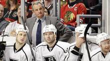 Los Angeles Kings head coach Darryl Sutter watches his team play against the in Chicago in March. (Nam Y. Huh/The Associated Press/Nam Y. Huh/The Associated Press)