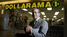 Larry Rossy, CEO of Dollarama, poses in his Cote Vertu store in Montreal. (Christinne Muschi/Christinne MuschiFor The Globe and Mail)