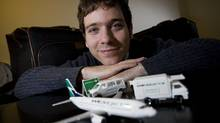 Gabor Lukacs, a Winnipeg math professor who has led the charge against WestJet's lost/damaged baggage liability policy (JOHN WOODS/GLOBE AND MAIL)