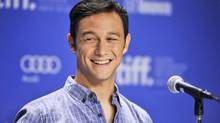 Joseph Gordon-Levitt smiles during the press conference for his new movie Looper during the 2012 Toronto International Film Festival, Sept. 6, 2012. (AARON VINCENT ELKAIM/THE CANADIAN PRESS)