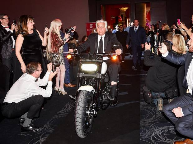 Jay Leno makes a statement with his arrival at the Trillium Health Partners 2018 Laugh Out Loud Gala in Toronto.