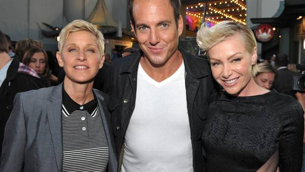 From left, Ellen DeGeneres, Will Arnett, and Portia de Rossi attend the season four premiere of Arrested Development at the TCL Chinese Theatre on Monday, April 29, 2013 in Los Angeles. (John Shearer/The Associated Press)
