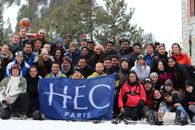 About 93 per cent of the HEC Paris class comes from outside France for the 16-month English-language program. A handful of Canadians are typically in each cohort.