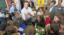 Ontario Premier Dalton McGuinty participates in Earth Day events at the Tecumseh Public School in London, Ont., yesterday. (NATHAN DENETTE/NATHAN DENETTE/THE CANADIAN PRESS)