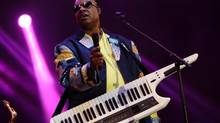 "In this May 19, 2013 file photo, Stevie Wonder performs in Gulf Shores, Ala. Mr. Wonder has refused to play in Florida as a result of the ""stand your ground"" law. (John Davisson/AP)"