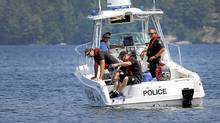 A search team monitors a remotely operated vehicle in the search for Brad Griffiths. Moe Doiron/The Globe and Mail (Moe Doiron/Moe Doiron/The Globe and Mail)