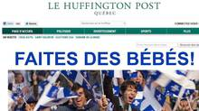 A screen capture of the newly launched Quebec edition of the Huffington Post is shown Wednesday, Feb. 8, 2012. (Paul Chiasson/Paul Chiasson/THE CANADIAN PRESS)