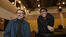Volcano Theatre's Ross Manson, left, and Ravi Jain, right, of Why Not Theatre. (Fred Lum/The Globe and Mail)