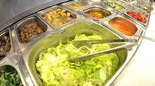 At the salad bar, choose only one high-calorie topping. (MORRIS MAC MATZEN/REUTERS)