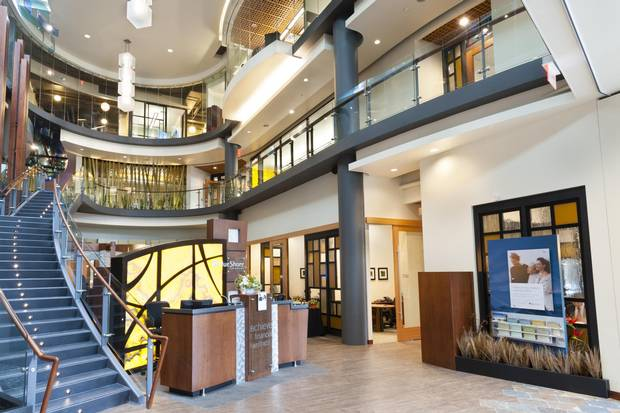 Redesigning BlueShore Financial's head office in North Vancouver, B.C., was the final phase of the corporate metamorphosis, with a grand central staircase connecting the first and second levels among the design statements.