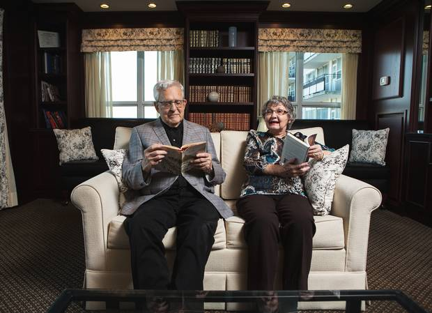 Roy and Marny Loach find plenty to do at Toronto's Dunfield Retirement Residence.