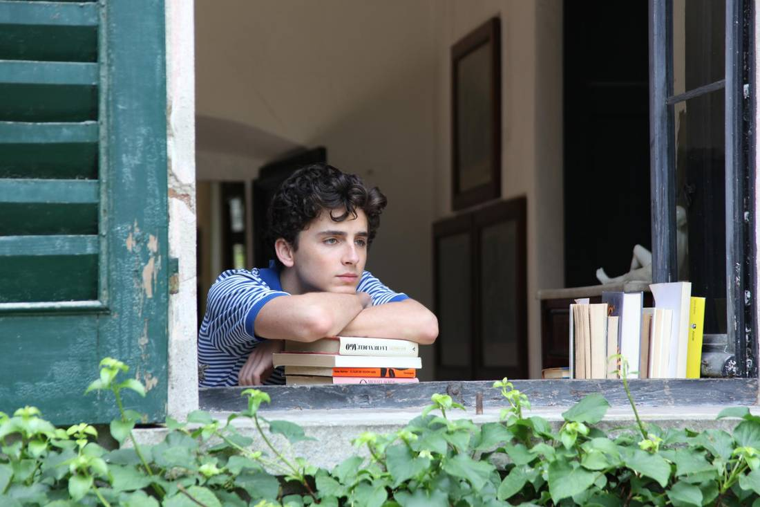 Timothée Chalamet as Elio in Call Me By Your Name.