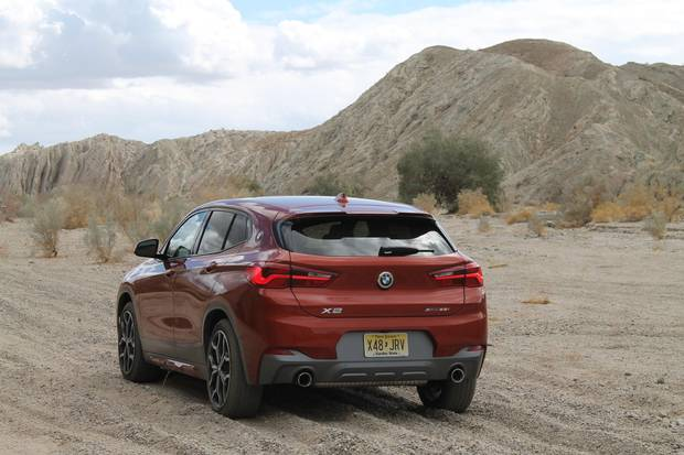 The 2.0-litre turbocharged engine, eight-speed transmission and all-wheel drive is pretty much identical to the X1.