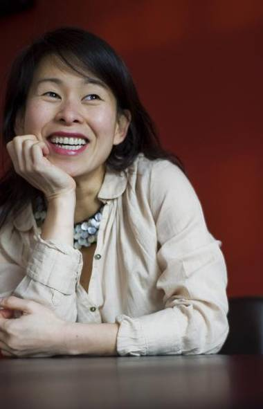 Author Kim Thuy poses for a photograph at her home in Longueuil, Que., Thursday February 02, 2012. (Graham Hughes For The Globe and Mail)