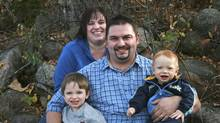 Shannon Wheaton, a pastor from Fort McMurray, Alta. , centre , his wife Trena Thompson-Wheaton, and youngest son Benjamin, died in a head-on crash north of Edmonton Friday. Oldest son Timothy survived. (Submitted photo)