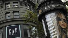 The Gap flagship store is seen in San Francisco, Calif. in this file photo. Gap Inc. has expanded into the thriving luxury market with its purchase of women's apparel retailer Intermix Holdco Inc. (ROBERT GALBRAITH/REUTERS)