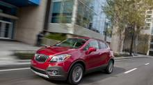 The 2013 Encore is ideal as an urban runabout and Buick is hoping the vehicle attracts younger, smarter, upscale buyers. (General Motors)