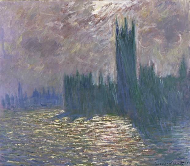 Claude Monet Londres. Le Parlement. Reflets sur la Tamise, 1905 oil on canvas