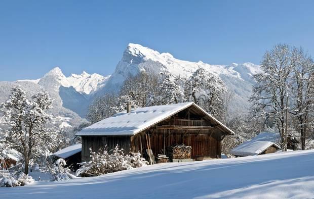 A traditional alpine chalet in the Haute-Savoie region.