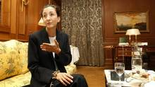 Freed Franco-Colombian hostage Ingrid Betancourt is seen during an interview with Reuters in Paris July 8, 2008. (JACKY NAEGELEN/Reuters)