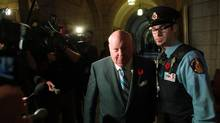 Senator Mike Duffy arrives at the Senate in Ottawa on Oct. 28, 2013. (DAVE CHAN FOR THE GLOBE AND MAIL)