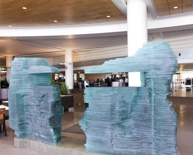 Warren Carther's Aperture is a large-scale sculpture at Winnipeg's Richardson International Airport.