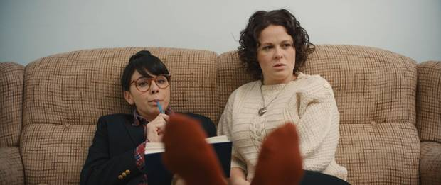 Struggling actor Audrey (Claire Armstrong) and aspiring playwright Lillian (Naomi Skwarna) lacking a proper outlet for their creativity in Dim the Flourescents, so they funnel all of their considerable passion and talent into the only paying work they can find: role-playing demonstrations for corporate seminars.