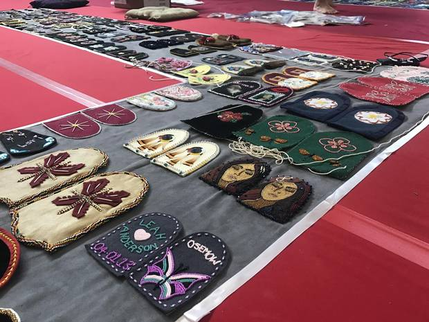 Vamps for children represent the many Indigenous girls who died at residential schools.