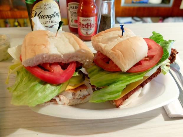 Nied's fish sandwich succeeds on a simple formula: good things combined with other good things, assembled with care and served without pretense. It's best enjoyed with a Yeungling Lager, one of Pennsylvania's best beers.