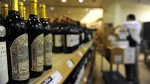 Shelves of wine at an Ontario LCBO store. (Fred Lum/The Globe and Mail)
