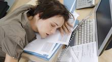 Woman sleeping at desk (Pixland/Getty Images/Pixland)