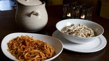 The Pasta Rossa and Pasta Bianca at La Caascina Ristorante. (Kevin Van Paassen/The Globe and Mail)