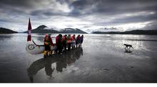 Globe photographer John Lehmann has been nominated for a National Newspaper Award for this photo he took of The Pulling Together canoe journey on July 3, 2001, in Ahousat, B.C. Nineteen 13-person canoes made the eight-day journey, visiting remote native villages between Tofino and Port Alberni. (JOHN LEHMANN/The Globe and Mail/JOHN LEHMANN/The Globe and Mail)