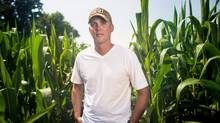 Corn prices are at four-year lows: 'We have to be a little more frugal,' says Mark Brock. (GEOFF ROBINS/The Globe and Mail)
