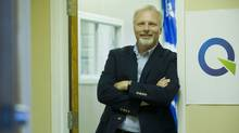 Parti Quebecois candidate for the riding of Rosemont Jean-Francois Lisee poses for a photograph at his campaign office in Montreal, Wednesday, August 8, 2012. (The Globe and Mail/Graham Hughes)