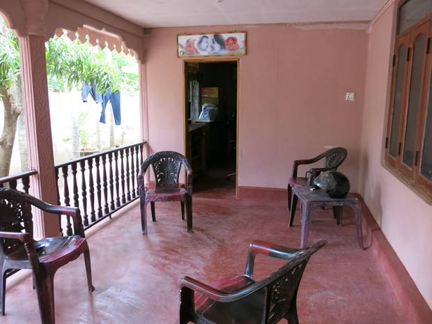 The front porch at Theivam Pathy.